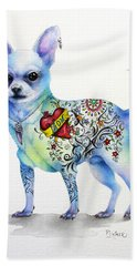 Beach Towel featuring the painting Chihuahua Topo by Patricia Lintner