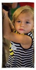 Beach Towel featuring the photograph Child In The Light by Bill Pevlor