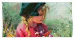 Beach Towel featuring the painting Child Of Eden by Steve Henderson
