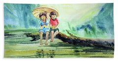 Childhood Joys Beach Sheet