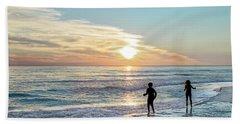 Children At Play On A Florida Beach  Beach Sheet