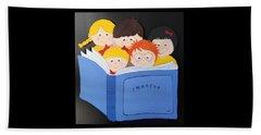 Children Reading Book Beach Sheet