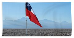 Chilean Flag Beach Sheet