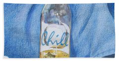 Beach Towel featuring the mixed media Chill by Constance DRESCHER