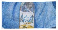 Beach Sheet featuring the mixed media Chill by Constance DRESCHER