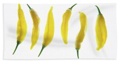 Chillies Lined Up II Beach Towel