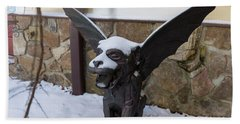 Chimera In The Snow Beach Towel