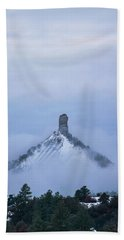 Beach Towel featuring the photograph Chimney Rock Rising by Jason Coward