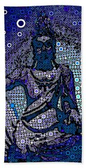 China Contemplation On Antiquity Beach Towel by Saundra Myles