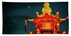 Beach Towel featuring the photograph China Night by Michael Nowotny