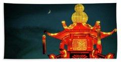 China Night Beach Towel by Michael Nowotny