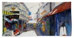 Chinatown, Bangkok Beach Towel by Tom Simmons