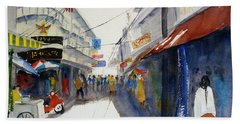 Chinatown, Bangkok Beach Sheet by Tom Simmons