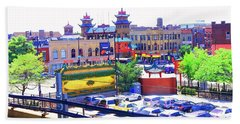 Chinatown Chicago 1 Beach Towel by Marianne Dow