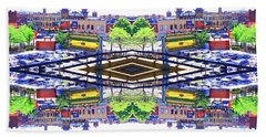 Chinatown Chicago 3 Beach Towel by Marianne Dow