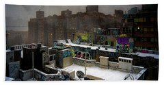 Beach Towel featuring the photograph Chinatown Rooftops In Winter by Chris Lord