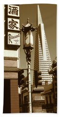 Chinatown San Francisco - Vintage Photo Art Beach Sheet