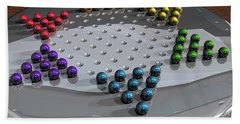Chinese Checkers Beach Towel by James Barnes