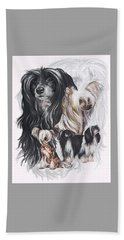 Chinese Crested And Powderpuff Medley Beach Towel