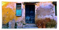 Chinese Facade Of Hoi An In Vietnam Beach Towel