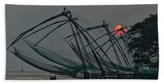 Chinese Fishing Nets, Cochin Beach Towel
