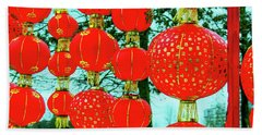 Chinese New Year Decoration 2 Beach Towel