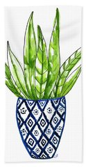 Chinoiserie Cactus No2 Beach Towel