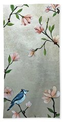 Chinoiserie - Magnolias And Birds Beach Towel