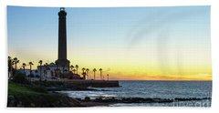Chipiona Lighthouse Cadiz Spain Beach Sheet by Pablo Avanzini