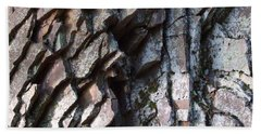 Chipped Rock Layers Photograph Beach Towel