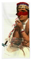 Beach Towel featuring the photograph Chippeway Chief 1836 by Padre Art