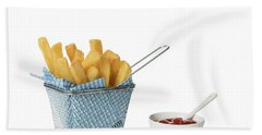 Chips With Tomato Sauce Beach Towel