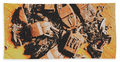 Chocolate Demolition Derby Beach Towel