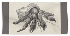 Chocolate Hermit Crab Beach Towel
