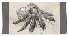 Chocolate Hermit Crab Beach Sheet