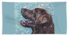 Chocolate Labrador Retriever Beach Towel