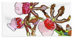 Chocolate Orchids Beach Towel