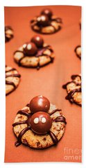 Chocolate Peanut Butter Spider Cookies Beach Towel