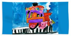 Choochoo Train Beach Towel