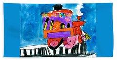 Choochoo Train Beach Sheet