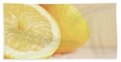 Chopped Lemon Beach Towel by Lyn Randle
