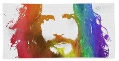 Chris Cornell Color Tribute Beach Towel