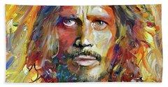 Chris Cornell Tribute 2017 Portrait Beach Towel