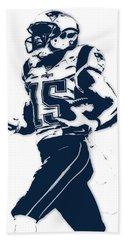Chris Hogan New England Patriots Pixel Art Beach Towel