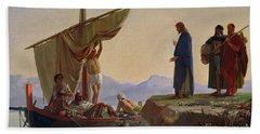 Christ Calling The Apostles James And John Beach Towel