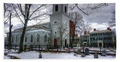 Christ Church In Cambridge Beach Towel