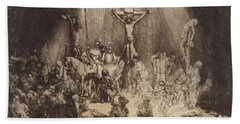 Christ Crucified Between The Two Thieves  The Three Crosses, 1653 Beach Towel