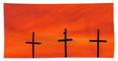 Christ Pilot Me Hill -02 Beach Towel by Rob Graham