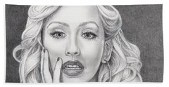 Christina Aguilera Beach Towel