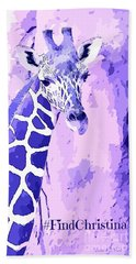 Christina's Giraffe Beach Towel by Robert ONeil